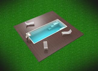 Купить керамический бассейн цвет белый