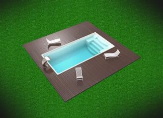 Стекловолоконный бассейн цвет белый