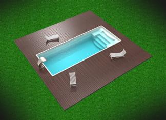 Композитный бассейн цвет белый