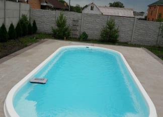 Стекловолоконный бассейн 8 метров Posh-pools