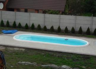 стекловолоконный бассейн Лагуна 8 метров в Харькове