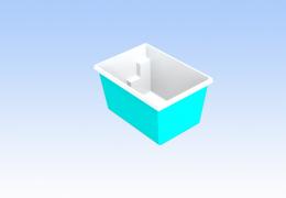 Приямок для бассейна 2,2x1,3x1,2 м